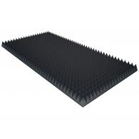 Акустический поролон Ecosound пирамида 40мм 2мх1м Цвет черный графит
