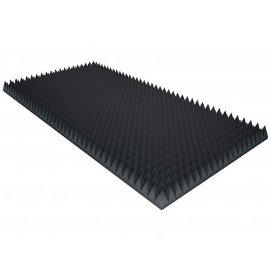 Купить акустический поролон ecosound пирамида 40мм 2мх1м цвет черный графит по низкой цене