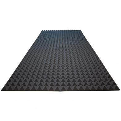 Акустический поролон Ecosound пирамида 25мм 2м х 1м Цвет черный графит