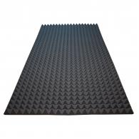 Акустический поролон Ecosound пирамида 30мм 2мх1м Цвет черный графит