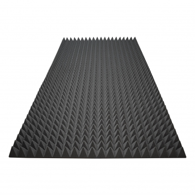 Акустический поролон Ecosound пирамида 70мм 2мх1м Цвет черный графит