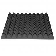 Акустический поролон Ecosound пирамида 40мм 50смх50см Цвет черный графит