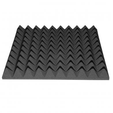 Купить акустический поролон ecosound пирамида 40мм 50смх50см цвет черный графит по низкой цене