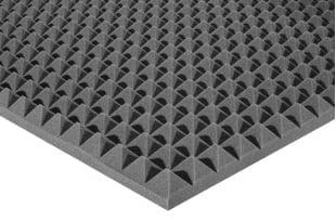 Акустический поролон Ecosound пирамида 50мм 1мх1м Цвет черный графит