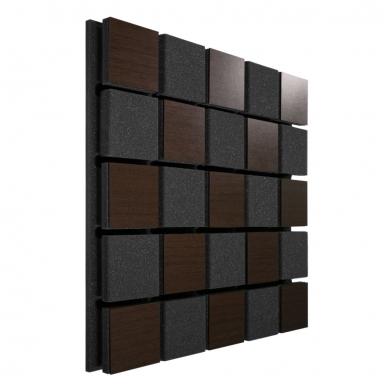 Купить акустическая панель ecosound tetras acoustic wood brown 50x50см 53мм цвет коричневый по низкой цене