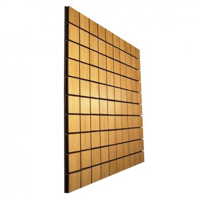 Купить акустическая панель ecosound tetras wood cream 100x100см 30мм цвет светлый дуб по низкой цене