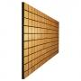 Купить акустическая панель ecosound tetras wood cream 100x200см 30мм цвет светлый дуб по низкой цене