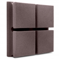 Акустическая панель Ecosound Tetras Velvet Grey 200x200x50мм цвет серый
