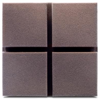 Купить акустическая панель ecosound tetras velvet grey 200x200x50мм цвет серый по низкой цене