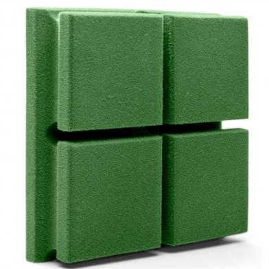 Купить акустическая панель ecosound tetras velvet pistasho 200x200x50мм цвет зелёный по низкой цене
