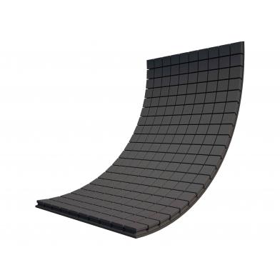 Купить панель из акустического поролона ecosound tetras black 100x100см, 70мм, цвет чёрный графит по низкой цене