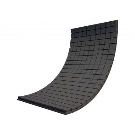 Панель из акустического поролона Ecosound Tetras Black 100x200см, 50мм, цвет чёрный графит