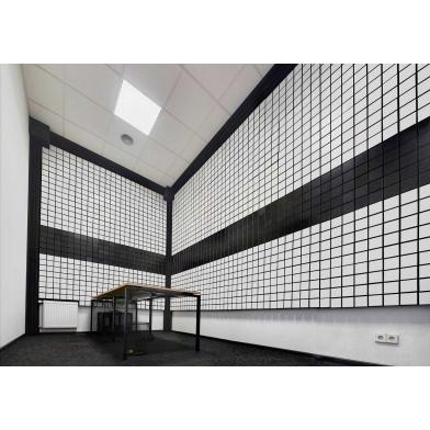 Купить панель из акустического поролона ecosound tetras black 100x100см, 50мм, цвет чёрный графит по низкой цене