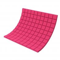 Панель из акустического поролона Ecosound Tetras Color толщиной 30 мм, размером 100х100 см, розового цвета