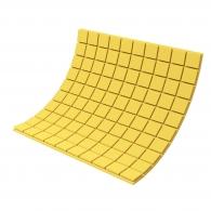 Панель из акустического поролона Ecosound Tetras Color толщиной 30 мм, размером 100х100 см, желтого цвета