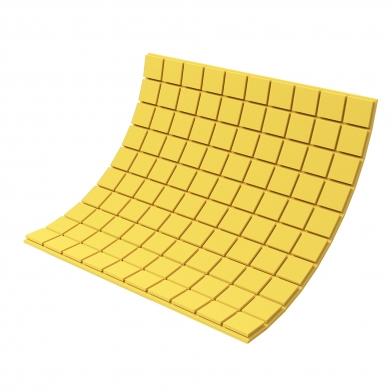 Купить панель из акустического поролона ecosound tetras color толщиной 30 мм, размером 100х100 см, желтого цвета по низкой цене