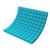 Панель из акустического поролона Ecosound Tetras Color толщиной 50 мм, размером 100х100 см, синего цвета