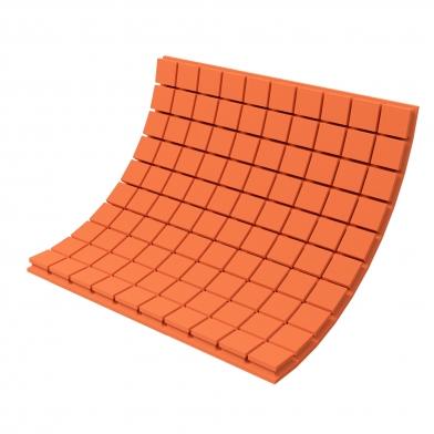 Купить панель з акустичного поролону ecosound tetras color товщиною 50 мм, розміром 100х100 см, оранжевого кольору  по низкой цене