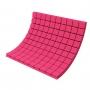 Купить панель из акустического поролона ecosound tetras color толщиной 50 мм, размером 100х100 см, розового цвета по низкой цене