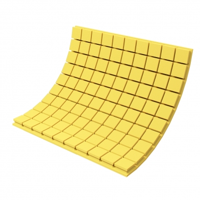 Купить панель из акустического поролона ecosound tetras color толщиной 50 мм, размером 100х100 см, желтого цвета по низкой цене