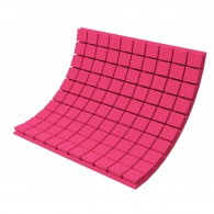 Панель из акустического поролона Ecosound Tetras Color толщиной 70 мм, размером 100х100 см, розового цвета