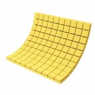 Панель из акустического поролона Ecosound Tetras Color толщиной 70 мм, размером 100х100 см, желтого цвета