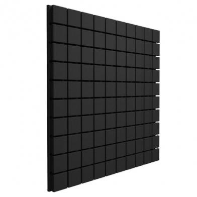 Купить панель из акустического поролона ecosound tetras black 100x100см, 20мм, цвет чёрный графит по низкой цене