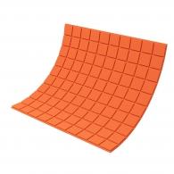 Панель из акустического поролона Ecosound Tetras Color толщиной 20 мм, размером 100х100 см, оранжевого цвета