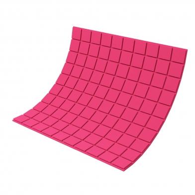 Купить панель из акустического поролона ecosound tetras color толщиной 20 мм, размером 100х100 см, розового цвета по низкой цене