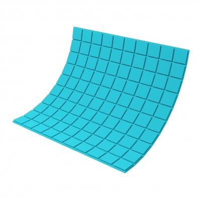 Купить панель из акустического поролона ecosound tetras color толщиной 20 мм, размером 100х100 см, синего цвета по низкой цене