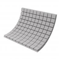 Панель из акустического поролона Ecosound Tetras Gray 100x100см, 100мм, цвет серый