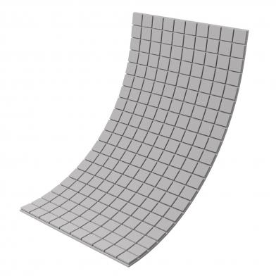 Купить панель из акустического поролона ecosound tetras grey 100x200см, 30мм, цвет серый по низкой цене