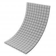 Панель из акустического поролона Ecosound Tetras Grey 100x200см, 100мм, цвет серый