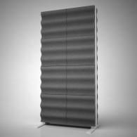 Акустическая ширма Ecosound Acoustic Wave 200х100 см цвет черный графит