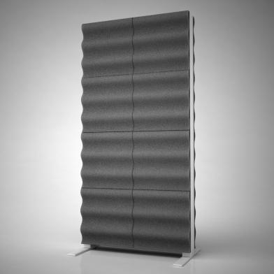 Купить акустическая ширма ecosound acoustic wave 200х100 см цвет черный графит по низкой цене