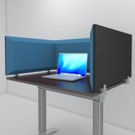 Настольная акустическая ширма для офисных столов и колл центров Desktop Acoustic Screen Color U-Type