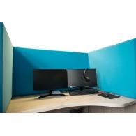 Акустическая ширма для офисных столов Ecosound Quadro Screen Multicolor 100х50 см 50мм