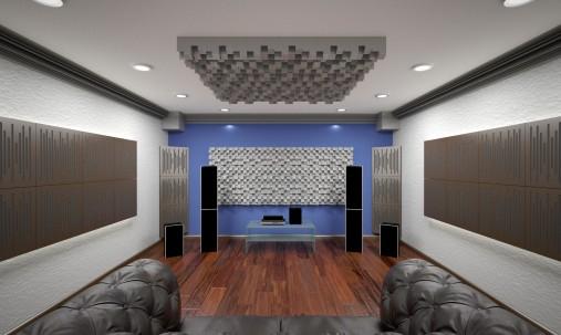 Пример применения Акустическая ширма Ecosound Acoustic Wave 200х100 multicolor