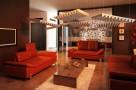 Пример применения  Акустическая подвесная звукопоглощающая панель Ecosound Quadro Pyramid Orange. 50мм 1х1м Цвет оранжевый