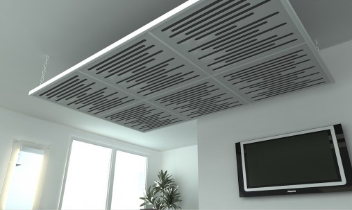 Пример применения Акустические облака Quadro Acoustic Wave Yellow в Украине.