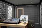 Визуализация проекта с использованием .Панель из акустического поролона Ecosound пирамида 90мм Mini, 0,5х0,5м черный графит. Превью