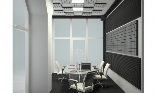 Пример применения Бас ловушка Ecosound КУБ угловой 25х25х25 см Цвет черный графит