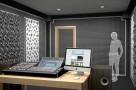Визуализация проекта с использованием .Бас ловушка Ecosound Bass trap Ecowave wood 1000х500х100 цвет сонома. Превью