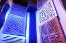 Пример применения  Акустический рассеиватель диффузор Ecosound Tetras diffuser White 53мм 50х50 см цвет белый