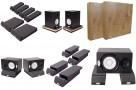 Пример применения  Подставки под акустические мониторы или сабвуффер Ecosound Acoustic Stand Pro. 53 мм 30х20 см  Цвет черный графит