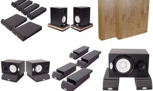'Пример применения '.Подставки под акустическую аппаратуру Ecosound Professional Wood 112х50см цвет светлый дуб