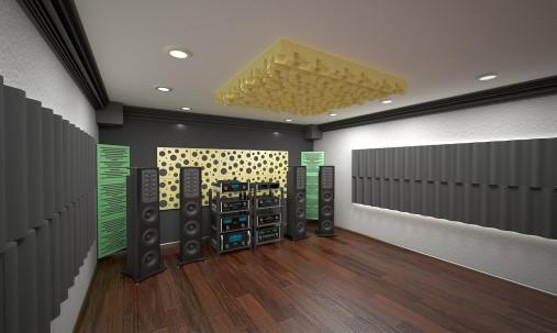 Пример применения Подставки под акустические мониторы Acoustic Stand.