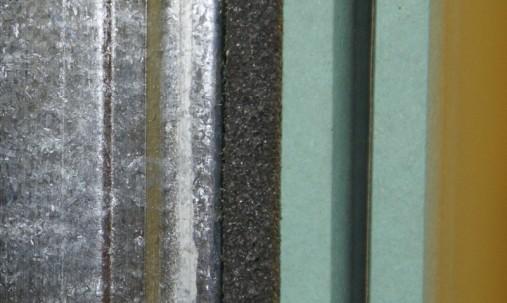 Пример применения Антивибрационные  крепления для звукоизоляции стен и потолка Ecosound-VibroNet PP-35