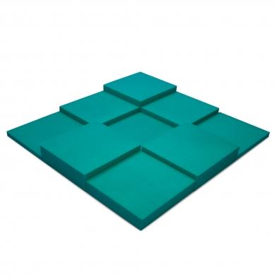 Купить панель из акустического поролона ecosound pattern velvet 60мм, 60х60см цвет темно-зеленый по низкой цене