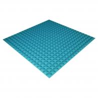 Панель из акустического поролона Ecosound Pyramid Color толщиной 15 мм, размером 100х100 см, синего цвета